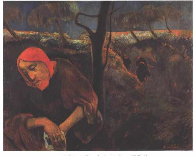 Paul Gauguin - Cristo no Horto das Oliveiras - 1889