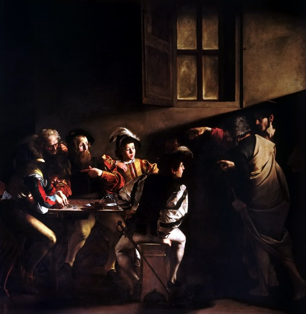 The Calling of Saint Matthew by Caravaggio, 1599