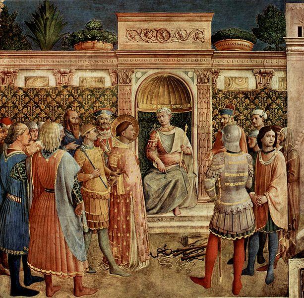 Lourenço perante a corte do imperador Valeriano