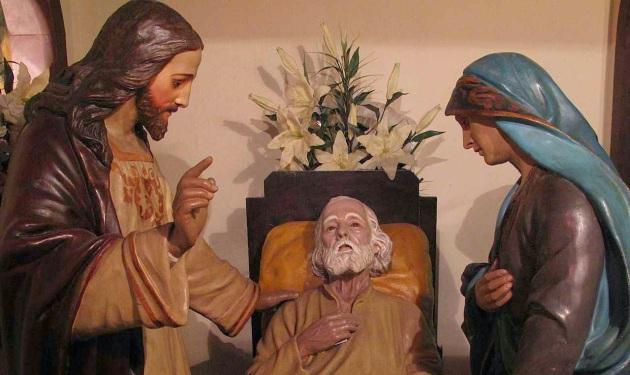 São José em agonia, igreja de São José, Rio de Janeiro, detalhe