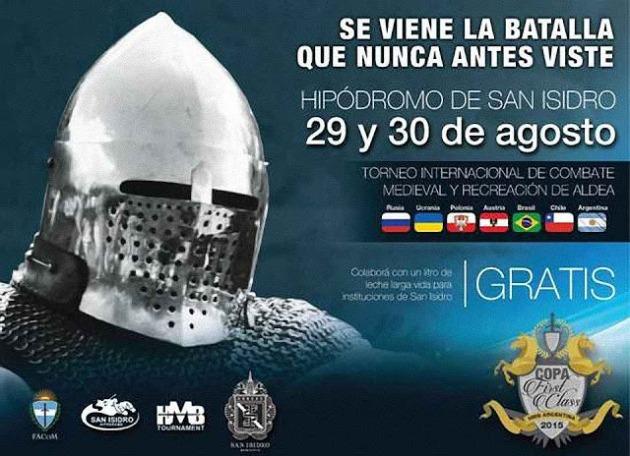 Combate Medieval, anúncio, agosto 2015, Argentina